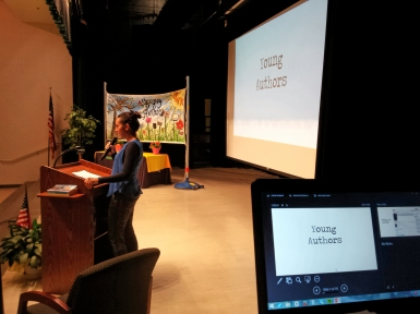 Speaker for Young Authors Day.