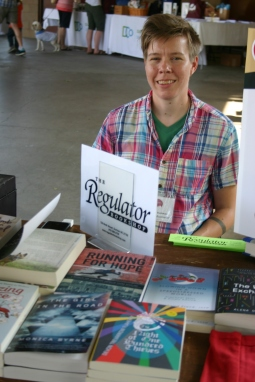 Regulator Bookshop table with my book and Laurin Penland.
